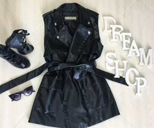 outfit, total black, and fatta image