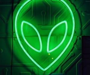 alien, green, and light image