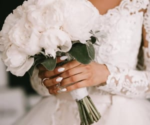 nails, wedding, and white image