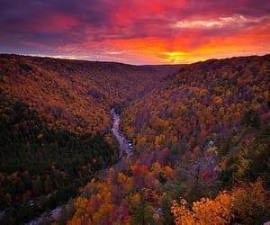 nature, landscape, and sunset image