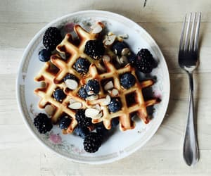 blueberries, food, and yummy image