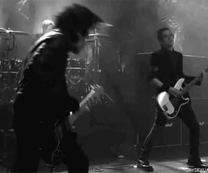 black and white, frank iero, and headbang image