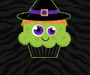 cupcake, green, and witch image