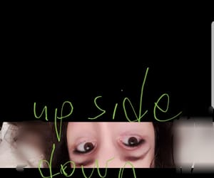 eyes, part, and upside down image