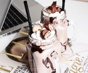 chocolate, drink, and sweet image