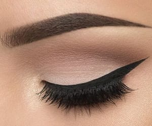 lashes, brown shadow, and make up image