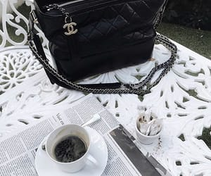 bag, chanel, and coffee image