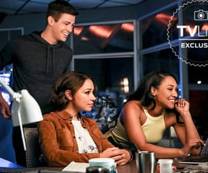 the flash, grant gustin, and iris west image