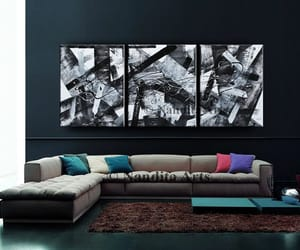 etsy, black and white art, and roomdecor image