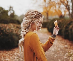 autumn, girl, and fall image