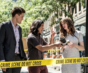 danielle panabaker, killer frost, and carlos valdes image