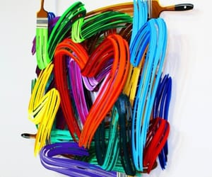 art, contemporary art, and hearts image