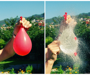 water, balloons, and cool image