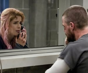 arrow, felicity smoke, and oliver queen image