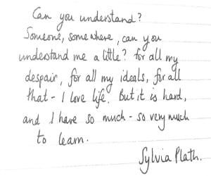 life, quotes, and syliva plath image