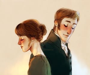art, drawing, and pride and prejudice image