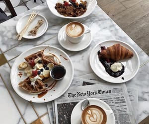 coffee, croissants, and food image