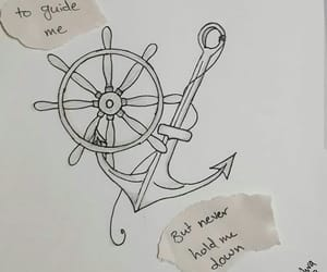 anchor, sketch, and art image