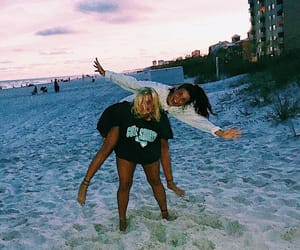 aesthetic, beach, and best friend image