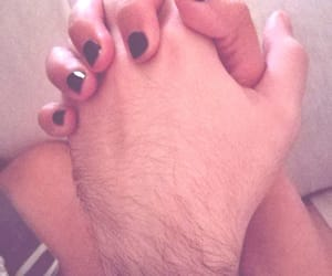 couple, fingertips, and hands image