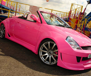 car, pink, and photography image