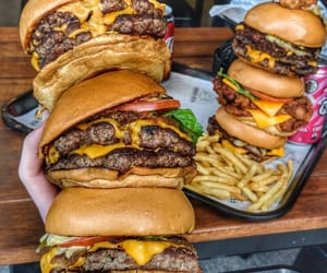 burger, food, and food porn image