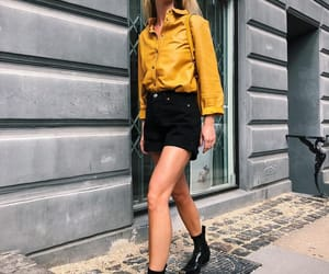 boots, leather, and yellow image