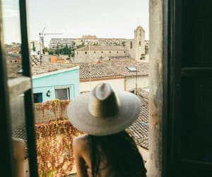 hat, summer, and travel image