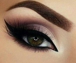 black, brown, and make up image