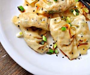 dumplings, food, and vegan image