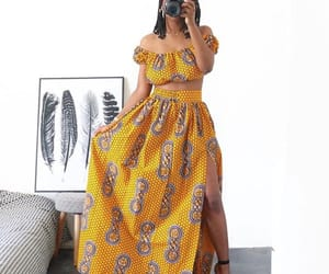 African, print, and skirt image