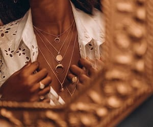 jewelry, détails, and necklace image
