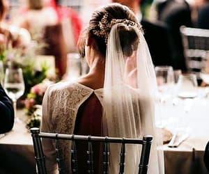 bride, hair, and wedding image