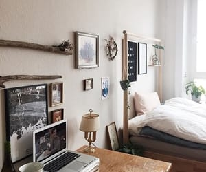 bedroom, interior, and chic image