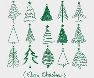 christmas, christmas tree, and doodle image