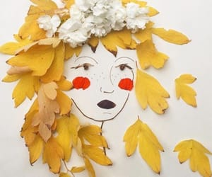 art, leaves, and autumn image