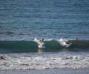 beach, surf, and wave image
