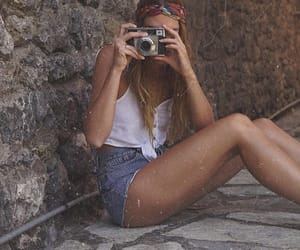 camera, girl, and summer image