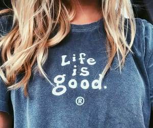 blonde, hair, and life is good image