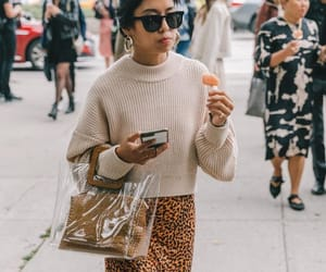 fashion, fashion week, and leopard image