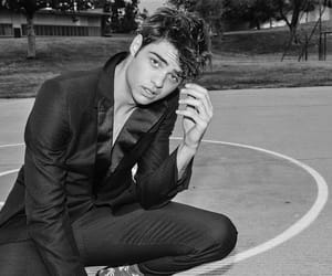 boy, noah centineo, and black and white image