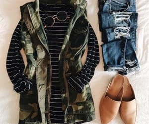 camo, chic, and fashion image