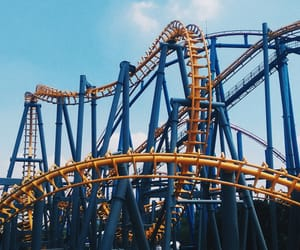 batman, blue, and six flags image