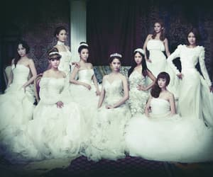 crown, dress, and girls generation image
