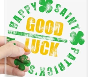good luck, stickers, and saint patricks day image