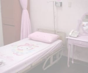 hospital, hello kitty, and pink image