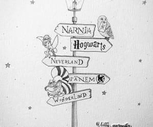 wonderland, drawing, and narnia image