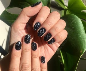 astrology, nail polish, and space image