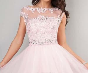pink homecoming dresses, cute party dress, and cheap party dress image