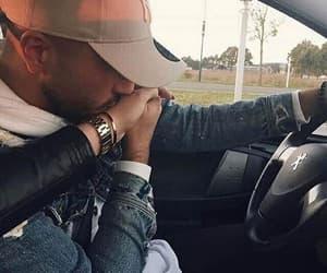 car, kiss, and couple image